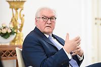 02 FEB 2021, BERLIN/GERMANY:<br /> Frank-Walter Steinmeier, Bundespraesident, waehrend einem Interview, Robert-Blum-Saal, Schloss Bellevue<br /> IMAGE: 20210202-01-020<br /> KEYWORDS: BUndespräsident