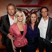 NLD/Amsterdam/20100202 - Perspresentatie X-Factor 2010, jury, Gordon Heuckeroth, Stacy Rookhuizen, Angela Groothuizen en Eric van Tijn