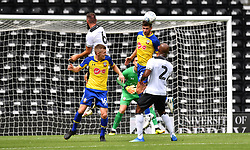 Southampton's Jack Stephens (second right) and Derby County's Andre Wisdom battle for the ball during a pre season friendly match at Pride Park, Derby.