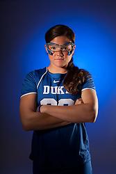 2012 Oct 24: Emma Hamm of Duke lacrosse photographed for US Lacrosse.