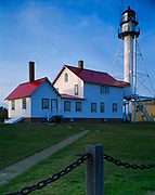 Whitefish Point Light Station, originally constructed in 1849 with light tower dating from 1861, Upper Peninsula of Michigan.