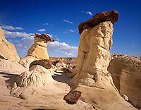 Toadstool hoodoos Grand Staircase Escalante National Monument Utah USA
