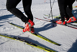 Skies during Training camp of Slovenian Cross country Ski team on October 23, 2012 in Dachstein Getscher, Austria. (Photo By Vid Ponikvar / Sportida)