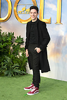 Harry Collett  Arriving for the special screening of Dolittle, Leicester Square London.