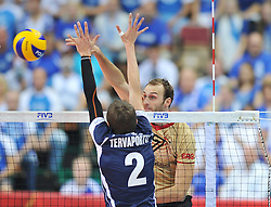 06.09.2014, Spodek, Katowice, POL, FIVT WM, Finnland vs Deutschland, Gruppe B, im Bild DIRK WESTPHAL // during the FIVB Volleyball Men's World Championships Pool B Match beween Finland and Germany at the Spodek in Katowice, Poland on 2014/09/06. <br /> <br /> ***NETHERLANDS ONLY***