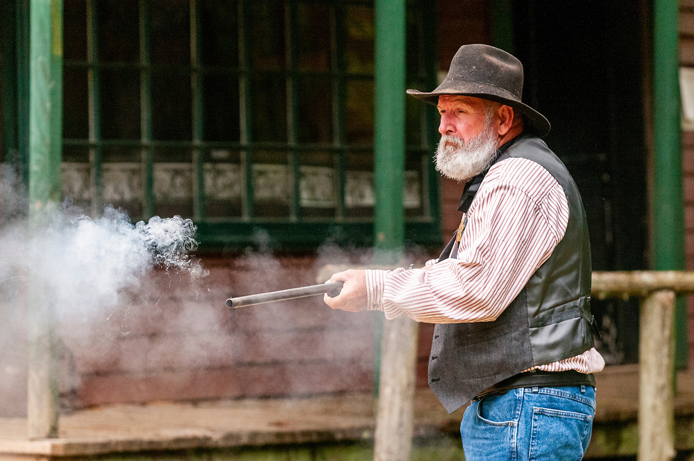 """Copper Canyon Ranch, a recreated """"Wild West"""" town with annual reenactments, in Hopkinsville, Kentucky on Friday, August 11, 2017. Copyright 2017 Jason Barnette"""