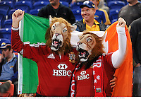 11 June 2013; British & Irish Lions supporters Davy and Gemma Lacey, from Kilcoole, Co. Wicklow. British & Irish Lions Tour 2013, Combined Country v British & Irish Lions, Hunter Stadium, Newcastle, NSW, Australia. Picture credit: Stephen McCarthy / SPORTSFILE