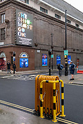 The show must go on at the Prince Edward Theatre which, prior to the Coronavirus pandemic, was showing the Mary Poppins musical on Sohos Old Compton Street in the heart of the West Ends Theatreland, remains closed during Englands third lockdown, on 22 February 2021, in London, England.