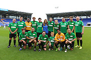 FREE EDITORIAL USGAE FOR EVENT <br /> Picture by Shaun Fellows / Shine Pix Ltd Stars from the stage and screen take part in a charity football match for animal charity PDSA at Shrewsbury Town FC on 30th August 2015. Celebrities include Jake Wood (Max Branning, Eastenders), Callum Best, James Arthur (X Factor) and many more. Cat City won! 7 penalties to 6 against Dog Town after the game ended 4 all.. For further information contact Amy Dickin<br /> Senior PR Officer<br /> 01952 797 219<br /> Dickin.Amy@pdsa.org.uk