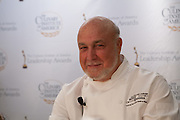 Larry Forgione, founder of the New York award-winning restauramt An American Place, expounded on the importance of fresh, local ingredients.
