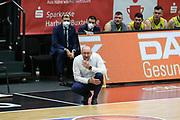 Basketball: Deutschland, 1. Bundesliga, Hamburg Towers -  EWE Baskets Oldenburg, Hamburg, 14.04.2021<br /> Trainer Mladen Drijencic (Oldenburg)<br /> © Torsten Helmke