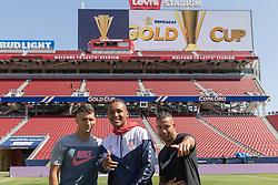July 25, 2017 - San Jose, California, USA - San Jose, CA - Tuesday July 25, 2017: The U.S. Men's national team train at Avaya Stadium. (Credit Image: © John Dorton/ISIPhotos via ZUMA Wire)