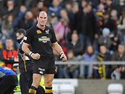 Wycombe. GREAT BRITAIN, An angry looking,  Lawrence DALLAGLIO,  during the, Guinness Premiership game between, London Wasps and Leicester Tigers on 25/11/2006, played at  Adams<br /> <br />  Park, ENGLAND. Photo, Peter Spurrier/Intersport-images]