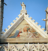 Detail of Duomo Cathedral, Siena, Tuscany, Italy