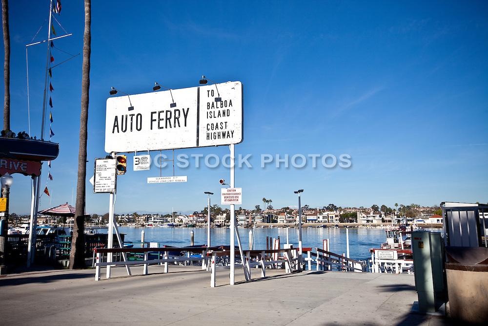 Auto Ferry Entrance Balboa Island