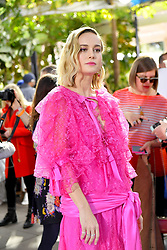 Brie Larson wears a pink dress to the Rodarte Fashion show in Pasadena Ca. 05 Feb 2019 Pictured: Brie Larson. Photo credit: Snorlax / MEGA TheMegaAgency.com +1 888 505 6342