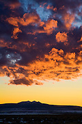 Clouds over three peaks