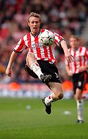 Photo. Richard Lane<br />Southampton v Leeds United. Barclaycard Premiership 19/04/2003.<br />Southampton scorer, Brett Ormerod.