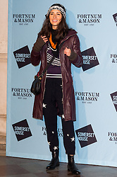 © Licensed to London News Pictures. 16/11/2016 JASMINE HEMSLEY attends the Skate At Somerset House with Fortnum & Mason VIP Party. London, UK. Photo credit: Ray Tang/LNP