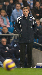 MANCHESTER, ENGLAND - Monday, February 25, 2008: Everton's manager David Moyes during the Premiership match against Manchester City at the City of Manchester Stadium. (Photo by David Rawcliffe/Propaganda)