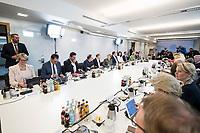 14 NOV 2018, POTSDAM/GERMANY:<br /> Angela Merkel (linke Seite Mitte), CDU, Bundeskanzlerin,  Klausurtagung des Bundeskabinetts, Hasso Plattner Institut (HPI), Potsdam-Babelsberg<br /> IMAGE: 20181114-01-121<br /> KEYWORDS; Kabinett, Klausur, Tagung, Sitzung, Übersicht, Uebersicht