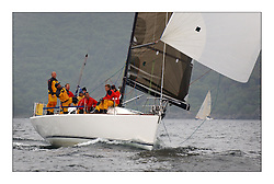 Yachting- The last days racing  of the Bell Lawrie Scottish series 2003 at Tarbert Loch Fyne.  Damp grey skies and light winds decided the final results in most fleets...Class one's Prima 38 Kylidh...Pics Marc Turner / PFM