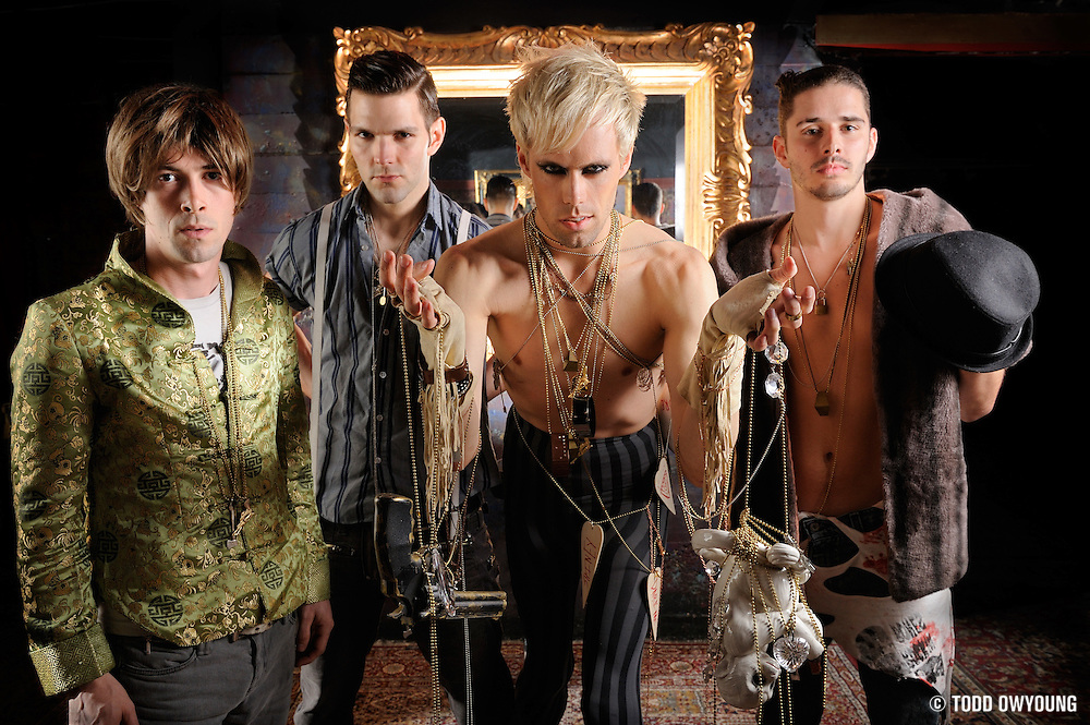 Portraits of NYC-based band Semi Precious Weapons, photographed on March 27, 2010 by music photographer Todd Owyoung.