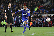 David McGoldrick of Ipswich strikes a free kick on goal.<br /> <br /> Skybet Football League Championship match, Cardiff City v Ipswich Town at the Cardiff city stadium in Cardiff, South Wales on Tuesday 21st October 2014<br /> pic by Mark Hawkins, Andrew Orchard sports photography.