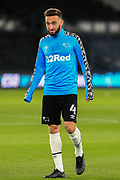 Graeme Shinnie of Derby County (4) in the warm up during the EFL Sky Bet Championship match between Derby County and Cardiff City at the Pride Park, Derby, England on 28 October 2020.