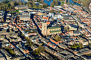 Nederland, Zuid-Holland, Gorinchem, 07-02-2018; vestingstad gelegen aan Linge en Boven-Merwede.<br /> fortified city located at river Upper Merwede (continuation river Rhine).<br /> luchtfoto (toeslag op standard tarieven);<br /> aerial photo (additional fee required);<br /> copyright foto/photo Siebe Swart