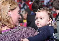 Deja Doler Ivanovic and her daughter Vita at handball match at Main round of Champions League between RK Krim Mercator, Ljubljana and CS Oltchim Rm. Valcea, Romania, in Arena Kodeljevo, Ljubljana, Slovenia, on 28th of February 2009. Krim won 35:34.