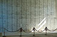 Wall of Names at the USS Arizona Memorial, Pearl Harbor, Oahu, Hawaii
