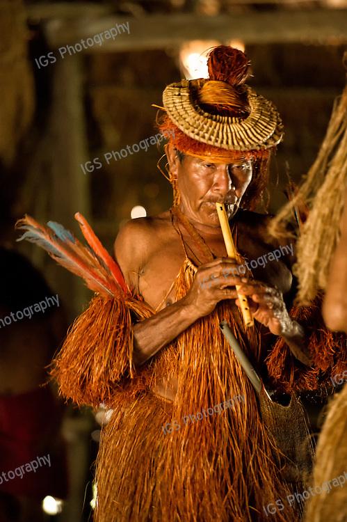 Yagua Indian Elder with headdress