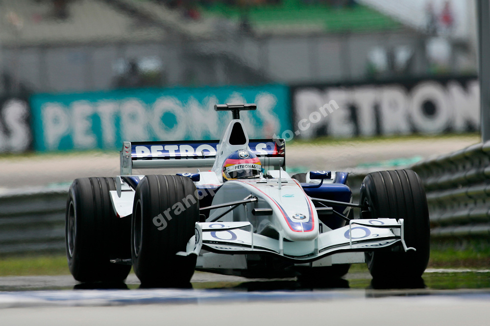 Jacques Villeneuve (BMW) during practice for the 2006 Malaysian Grand Prix in Sepang. Photo: Grand Prix Photo