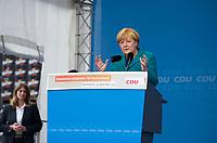 DEU, Deutschland, Germany, Bad Köstritz, 15.09.2013: <br />Bundeskanzlerin Dr. Angela Merkel hält eine Rede bei einer Wahlkampfveranstaltung der CDU auf dem Gelände der Köstritzer Schwarzbierbrauerei.