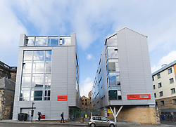 Exterior of Unite Student building at Sugarhouse Close in Holyrood, Edinburgh, Scotland, UK