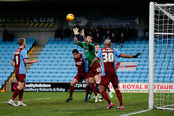 Emergency goalkeeper Andrew Boyce of Scunthorpe United in action - Photo mandatory by-line: Rogan Thomson/JMP - 07966 386802 - 17/01/2015 - SPORT - FOOTBALL - Scunthorpe, England - Glanford Park - Scunthorpe United v Bristol City - Sky Bet League 1.