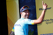 Omar Fraile (ESP - Astana Pro Team) stage winner, podium during the 105th Tour de France 2018, Stage 14, Saint-Paul-trois-Chateaux - Mende (188 km) on July 21th, 2018 - Photo Luca Bettini / BettiniPhoto / ProSportsImages / DPPI