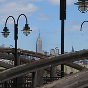 The Empire State Building viewed from Liberty State Park, New Jersey. New York, USA. 27th April 2012. Photo Tim Clayton