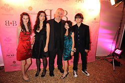 VINCE POWER and his children at the End of Summer Ball in support of The Prince's Trust in Berkeley Square, London on 25th September 2008.