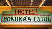 Hotel Honokaa Club, Honokaa, The Big Island, Hawaii USA