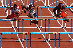 Terrence Trammell USA in action during Olympics Games Athletics day 12 on August 24, 2004 in Olympic Stadion Spyridon Louis, Athens.