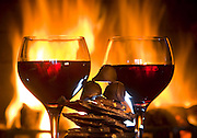 Romantic scene complete with wine and chocolates.<br /> Mike Siegel / The Seattle Times