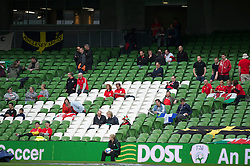 DUBLIN, REPUBLIC OF IRELAND - Friday, May 27, 2011: A handful of supporters watch Wales take on Northern Ireland during the Carling Nations Cup match at the Aviva Stadium (Lansdowne Road). The official attendance was only 529. (Photo by David Rawcliffe/Propaganda)