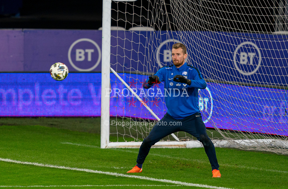 CARDIFF, WALES - Tuesday, November 17, 2020: Finland's goalkeeper Lukáš Hrádecký during a training session at the Cardiff City Stadium ahead of the UEFA Nations League Group Stage League B Group 4 match between Wales and Finland. (Pic by David Rawcliffe/Propaganda)