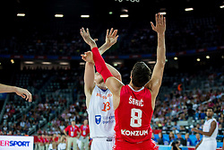 during basketball match between Netherlands and Croatia at Day 5 in Group C of FIBA Europe Eurobasket 2015, on September 9, 2015, in Arena Zagreb, Croatia. Photo by Vid Ponikvar / Sportida