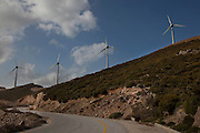 Mountaintop windfarm in Chania prefecture, Crete, Greece. There is strong potential for further development of wind energy in Crete, which leads Greece in renewable energy generation. Current research suggests that wind could account for up to 70% of Crete's energy needs. Crete already has 160 mw of wind power with another 60 megawatts expected to be taken up soon, and 90 megawatts of photovoltaic solar farms are also expected.