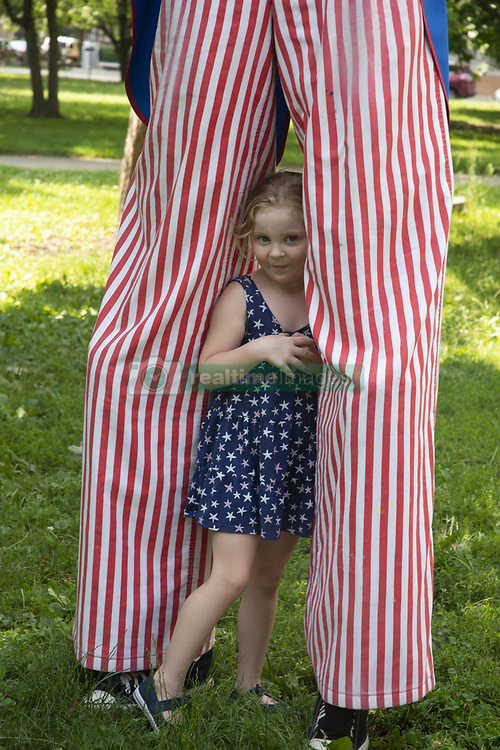 July 4, 2018 - Chicago, Illinois, USA - 4th of July celebration at the History Museum in Chicago with a patriotic concert, children's parade led by Uncle Sam and reading of the Declaration of Independence. (Credit Image: © Karen I.Hirsch via ZUMA Wire)