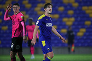 AFC Wimbledon midfielder Alex Woodyard (4) walking off the pitch during the EFL Sky Bet League 1 match between AFC Wimbledon and Peterborough United at Plough Lane, London, United Kingdom on 2 December 2020.