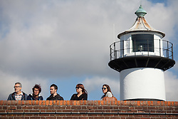 © Licensed to London News Pictures. 02/10/2016. Southsea, Hampshire, UK.  People out and about at Southsea Castle enjoying the warm, sunny weather on another stunning autumn day. Photo credit: Rob Arnold/LNP